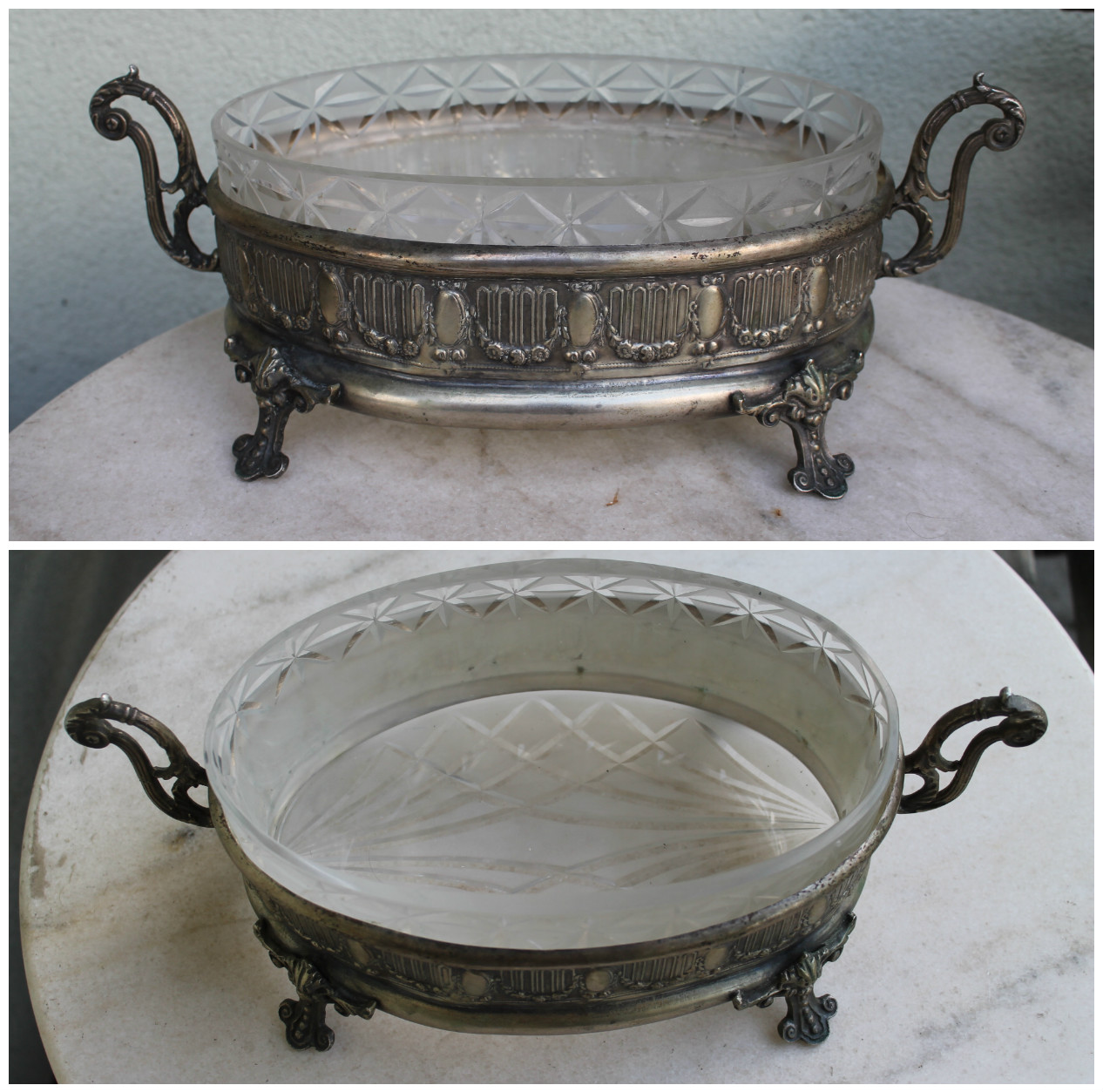 Antique Art-Nouveau Centerpiece vaza. Kaina 187